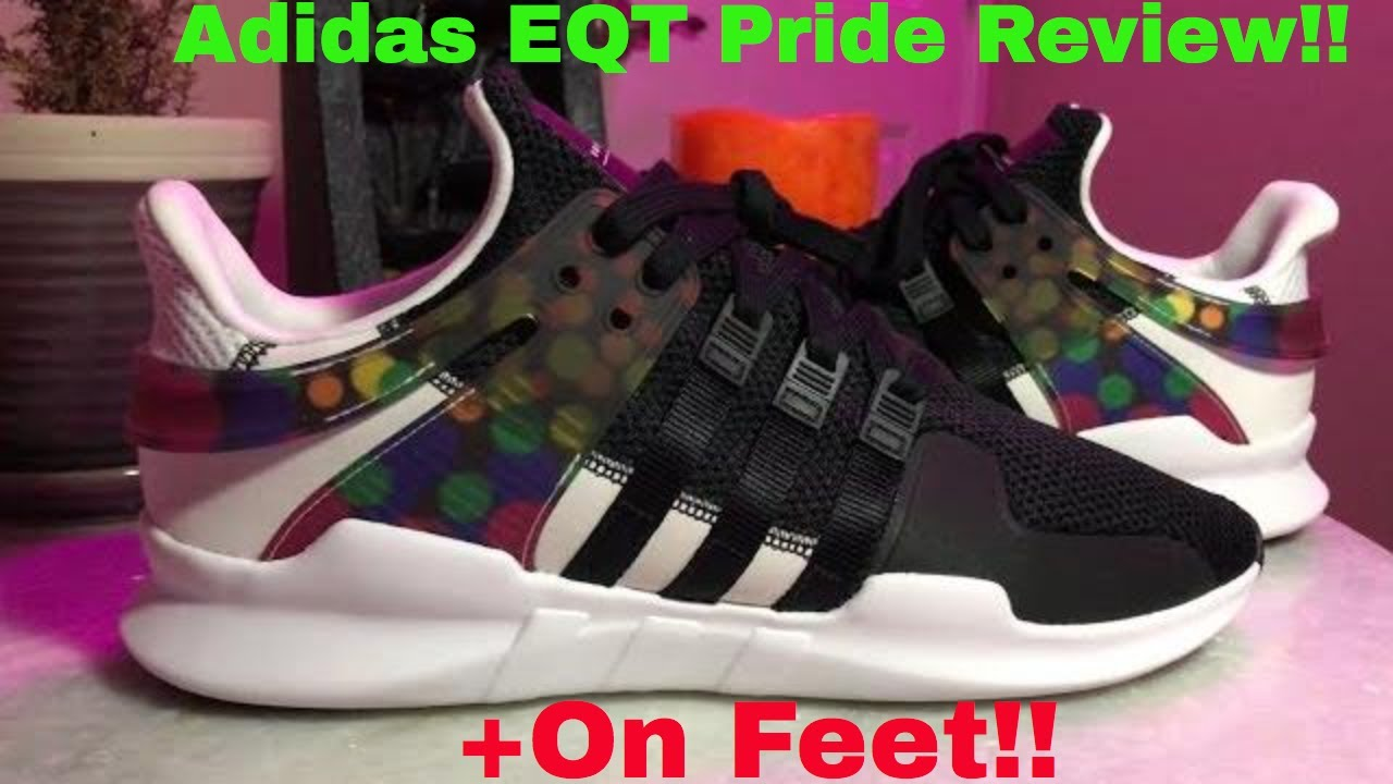 903c964831ad Adidas EQT Support ADV Pride Pack Review + On Feet!!! - YouTube