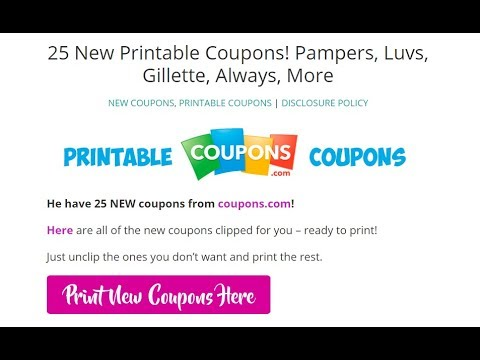 graphic relating to Printable Luvs Coupons identify 25 Fresh Printable Coupon codes 8/13/17 **Generally, Pampers, Luvs, Glade**