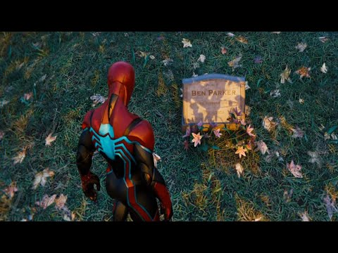 Spider-Man PS4 - Pay respects at Ben Parker's Grave - Easter Egg |  With Great Power Trophy