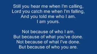Casting Crowns - Who am I Lyrics
