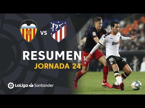 Resumen De Valencia Cf Vs Atletico De Madrid 2 2 Youtube