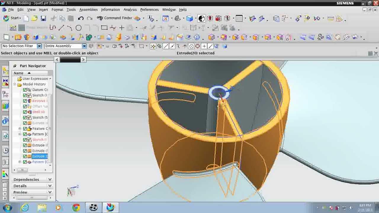 unigraphics nx 8 how to design propeller fan  YouTube
