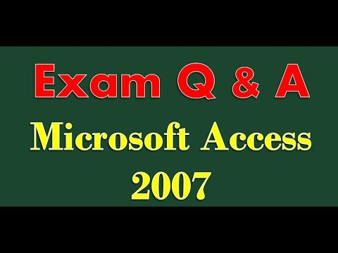 Exam Prep Microsoft Access 2007
