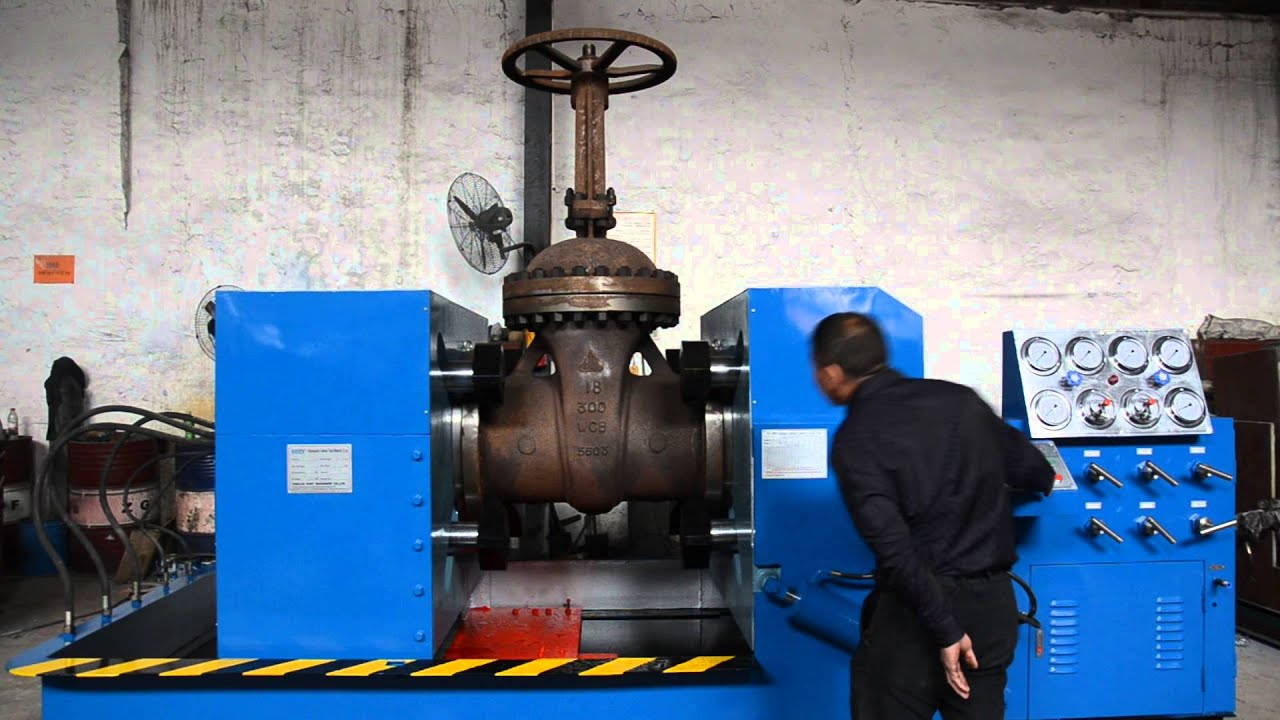 Yfj B Valve Test Bench With Gate Valve Clamped Youtube