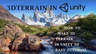 How to create a Terrain in Unity3d (Beginners Tutorial)