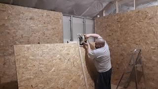 Тайна третьей комнаты  4 я серия  Доделка металлокаркаса и зашивка двух стен OSB