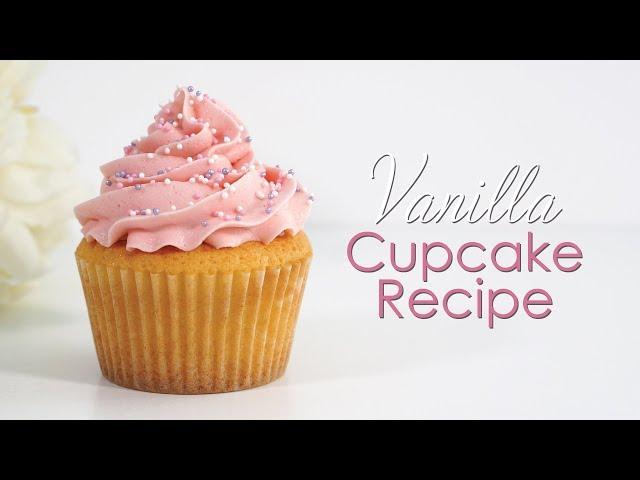 How to make Vanilla Cupcakes Recipe - Tutorial