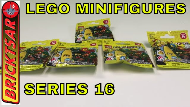 Lego Minifigures Series 16 Blind Bag Opening 5 Packs 71013 Youtube