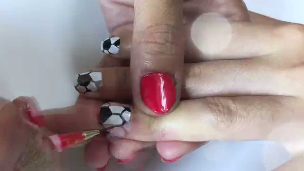 Soccer Ball Nail Artdesigns Ready For Soccer Season Youtube