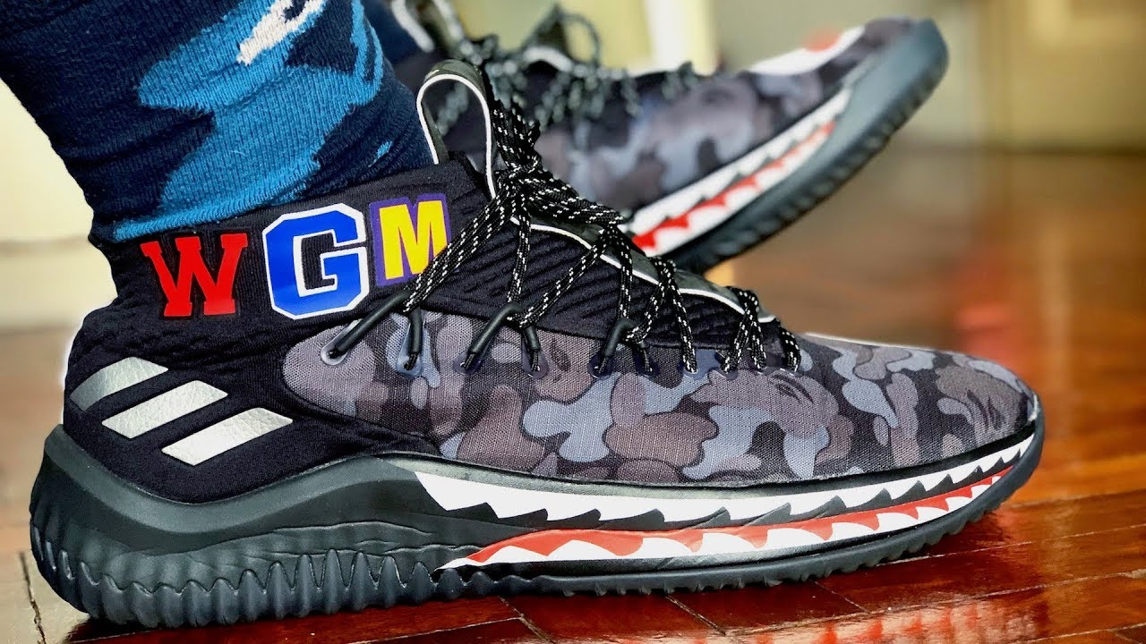 low priced 4885d 1c0e1 BAPE x adidas Dame 4 On-Feet and Review (Sneaker Vlog!)