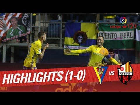 Resumen de Cádiz CF vs CF Reus (1-0)