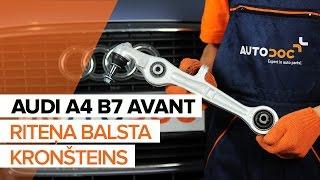 Kā nomainīt AUDI A4 B7 AVANT priekšējo apakšējo sviru no priekšpuses PAMĀCĪBA | AUTODOC