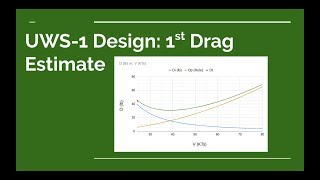 UWS-1 Design: 1st Drag Estimate
