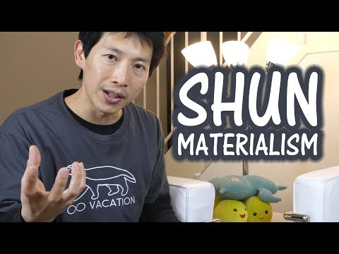 How to Shun Materialism and Be Rich