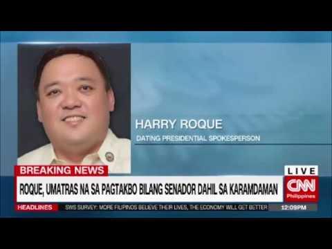 Breaking News: Harry Roque, umatras na sa pagtakbo bilang senador