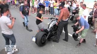 No Shirt, No Problem   Harley Rider CRASH