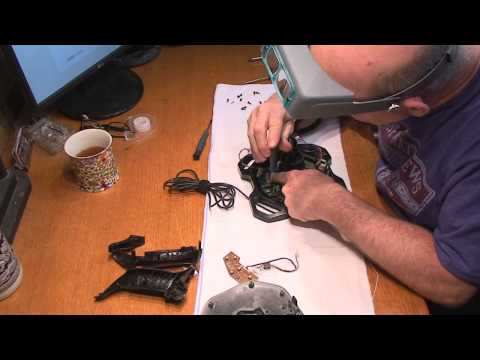 Logitech Extreme 3D Pro Joystick - how to take it apart, fix it, then put it back together again.