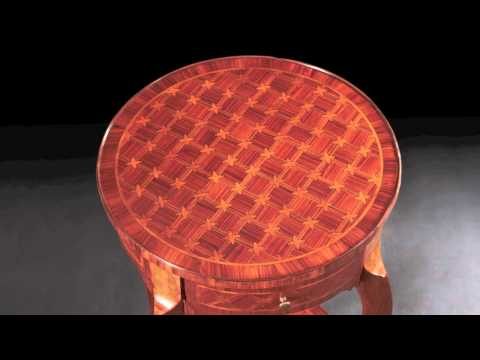 French Louis XV Parquetry Table