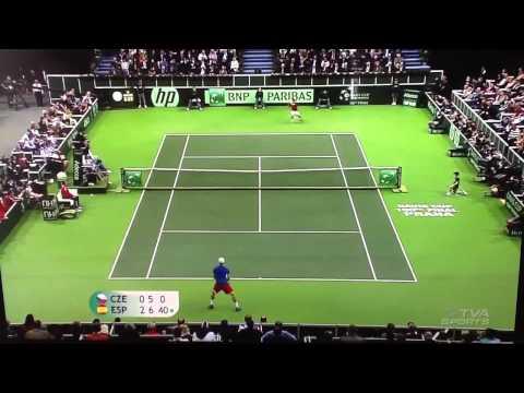 David Ferrer vs Thomas Berdych Copa Davis 2012 España vs Republic Czech Final 2012  Prague
