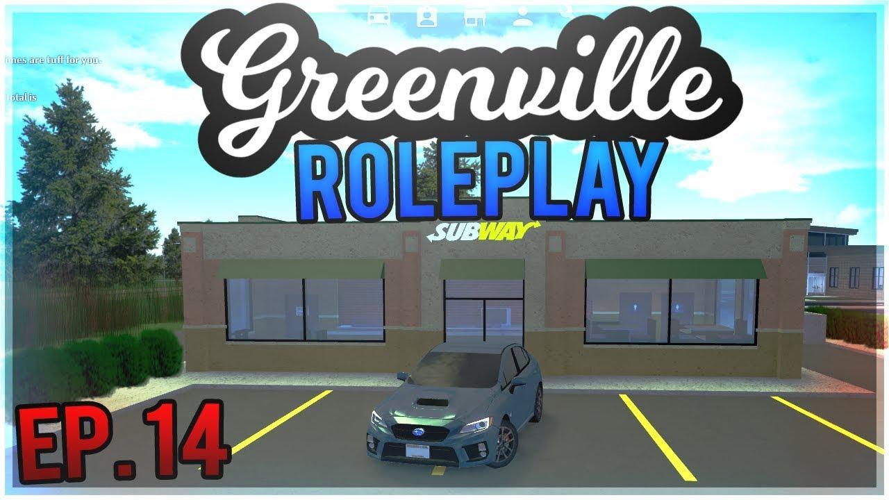 🥪NEW JOB AT SUBWAY!🥪 Greenville Roleplay Ep  14 ROBLOX