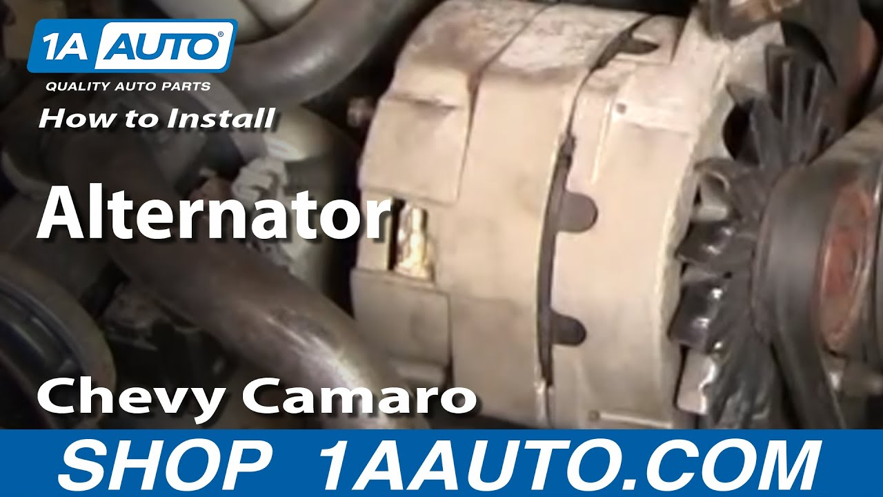 how to install replace alternator chevy camaro pontiac trans am 82 92 1aauto com youtube [ 1920 x 1080 Pixel ]