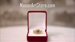 Gold Egyptian Horus Ring - Eye of Ra ring