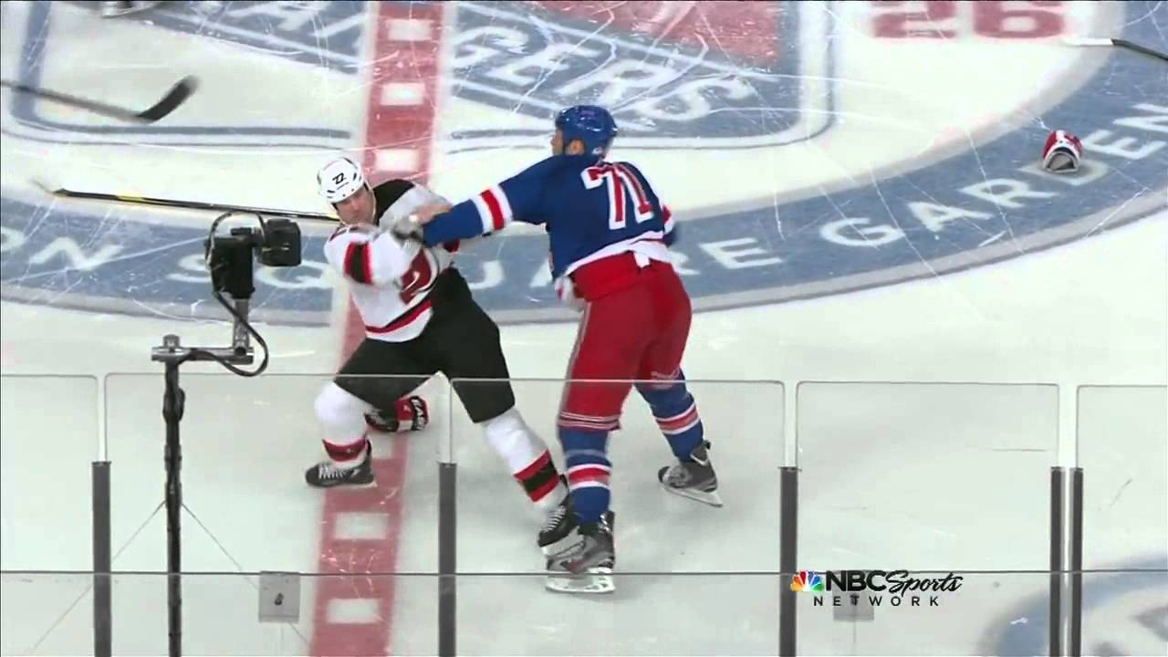 hot sale online b2137 61037 Devils/Rangers Opening Faceoff Brawl - 3/19/12 - Full Sequence [HD]