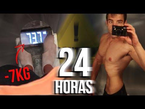 24 HORAS SIN COMER NI BEBER | -7KG EN UN DIA