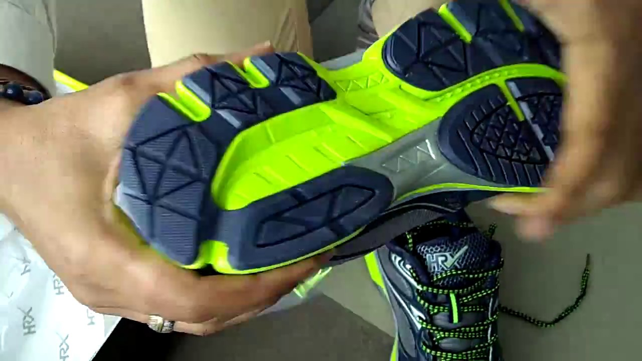 online store 09396 f04f6 HRX Men's Navy & Grey Running Shoes: Unboxing & Quick Review