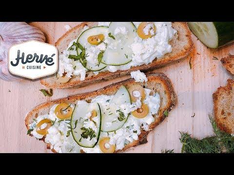 recette-tzatzíki-grec-sur-toast-pour-l'apéro,-facile-et-diététique-!-hervé-cuisine