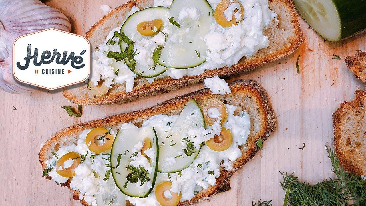 Recette Tzatziki Grec Sur Toast Pour L Apero Facile Et Dietetique