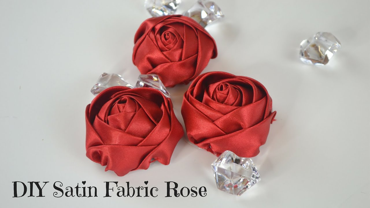 Uncategorized Diy Fabric Flower diy fabric flower tutorial how to create a satin rose youtube
