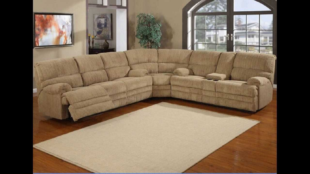 3 Pc Denton Hazel Cordy Fabric Upholstered Sectional Sofa With Recliners You