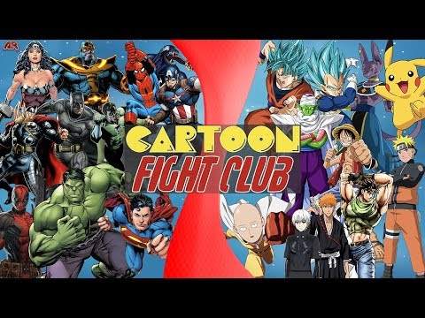Comics VS Manga (Marvel & DC vs Dragon Ball Super, Naruto, Pokémon, One Piece) CARTOON FIGHT CLUB