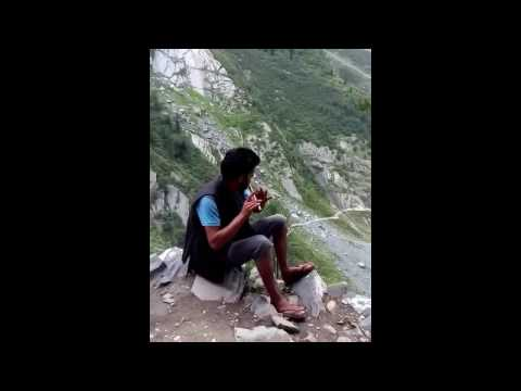 Amazing Flute player in Himalayan foothills