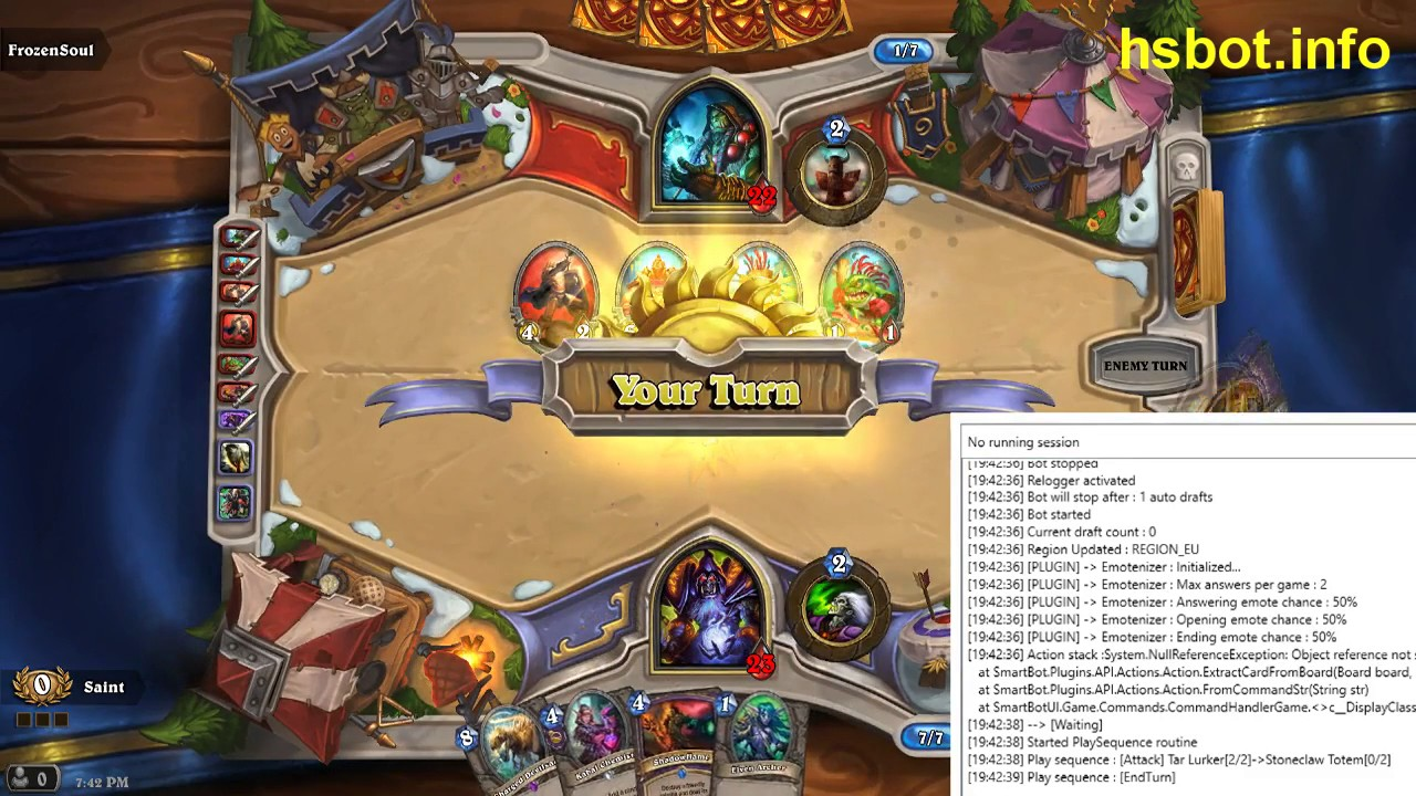 Selling] SmartBot: The Most Advanced Hearthstone AI!