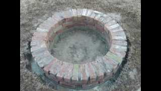 How To Build A Sturdy Brick Fire Pit - Part 2