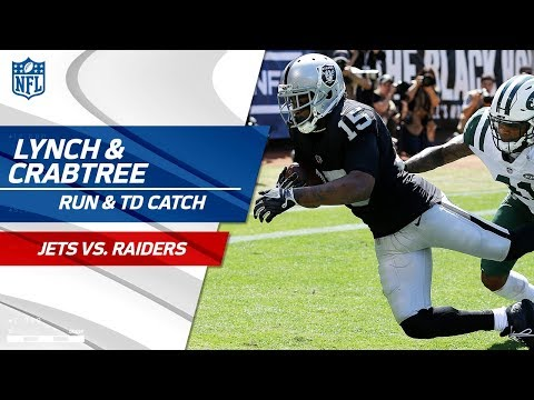 Lynch's Tackle-Breaking Run & Crabtree's Fade Route TD! | Jets vs. Raiders | NFL Wk 2