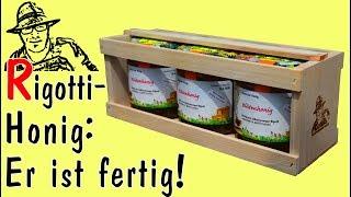 Honig schleudern, abfüllen, etikettieren und vermarkten