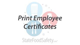 Print Employee Certificates