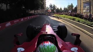 F1 2013 - Ferrari - Giancarlo Fisichella demo in Jerusalem (Day 1)