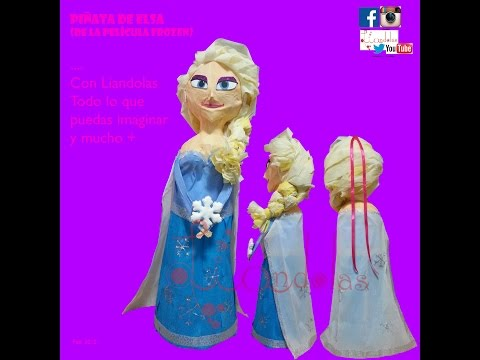 Como Elaborar Una Piñata De Elsa Frozen - Liandolas (How To Make An Elsa Piñata From Frozen Movie)
