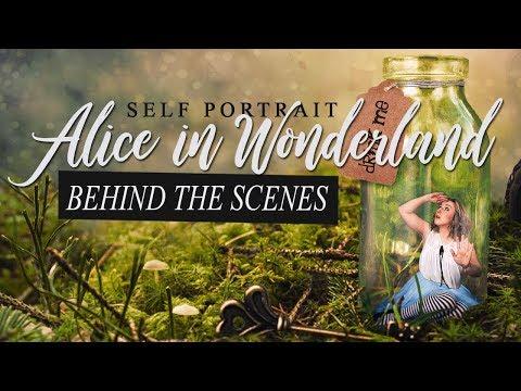 Alice in Wonderland self portrait │ How to │ Behind the Scenes