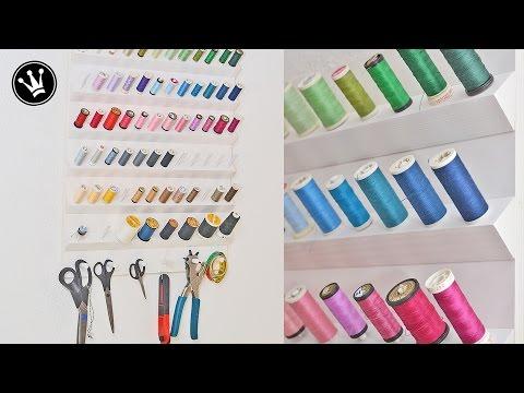 DIY – Garnrollenhalter selber machen I Organisation Arbeitszimmer und Nähecke I How to