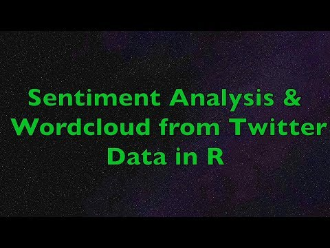 R - Sentiment Analysis And Wordcloud With R From Twitter Data   Example Using Apple Tweets