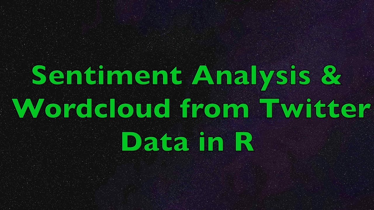 R - Sentiment Analysis and Wordcloud with R from Twitter Data | Example  using Apple Tweets