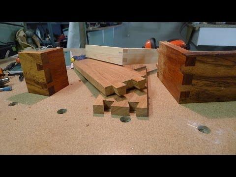 Travail du bois - réalisation d'un assemblage à queues d'aronde