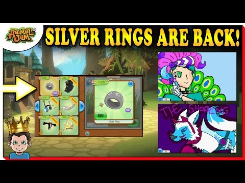 SILVER RINGS ARE BACK IN STORES + EPIC FAN ART ON ANIMAL JAM