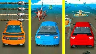 Сrazy and Deadly Race! All Impossible Tracks! Walkthrough Speed Car Bumps Challenge