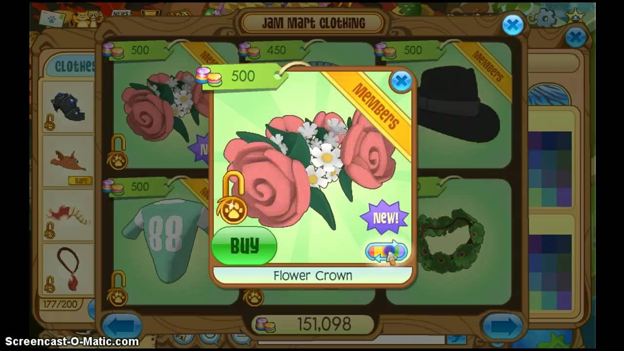 Animal jam flower crown youtube animal jam flower crown izmirmasajfo